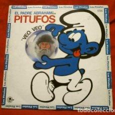 Discos de vinilo: LOS PITUFOS (LP. 1980) VEO, VEO - EL PADRE ABRAHAM Y SUS PITUFOS (BARRUFETS). Lote 153860850