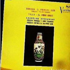 Discos de vinilo: LP DE MANUEL DE FALLA Y DE BORODIN. AÑO 1964 . Lote 153867534
