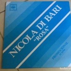 Discos de vinilo: NICOLA DI BARI - ROSA . MAXI. Lote 153868194