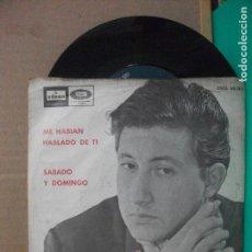 Discos de vinilo: LUIS AGUILE / ME HABIAN HABLADO DE TI / SABADO Y DOMINGO (SINGLE 1965) PEPETO. Lote 153881366