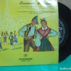 Discos de vinilo: EP AGRUPACION LANGREANA CORO SANTIAGUIN TONADA ASTURIANA ASTURIAS PEPETO. Lote 153885166