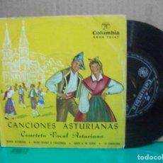 Discos de vinilo: CANCIONES ASTURIANAS-EP RONDA ASTURIANA +3 ASTURIAS. Lote 153885398