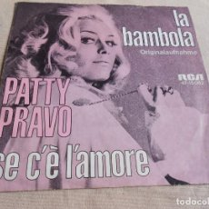 Discos de vinilo: PATTY PRAVO, SG, LA BAMBOLA + 1, AÑO 19?? MADE IN GERMANY. Lote 153915746
