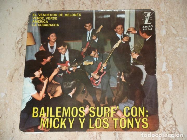 MICKY Y LOS TONYS ( BAILEMOS SURF ) - EL VENDEDOR DE MELONES + 3 - EP SPAIN 1964 (Música - Discos de Vinilo - EPs - Grupos Españoles 50 y 60)
