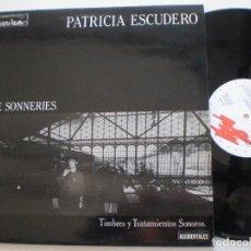 Discos de vinilo: PATRICIA ESCUDERO - SATIE- LP G.A. LA COMETA DE MADRID 1986 // DARK EXPERIMENTAL SYNTH LUIS DELGADO. Lote 153930058