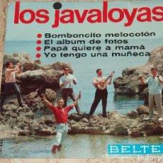 Discos de vinilo: LOS JAVALOYAS - BOMBONCITO MELOCOTÓN + 3 1966 . Lote 153931406