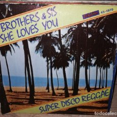 Discos de vinilo: T. BROTHERS & SIS – SHE LOVES YOU SPAIN 1979 . Lote 153939294