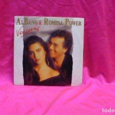 Discos de vinilo: AL BANO & ROMINA POWER -- VENCERAS / VENCERAS, PROMOCIONAL WEA 1993.. Lote 153947222