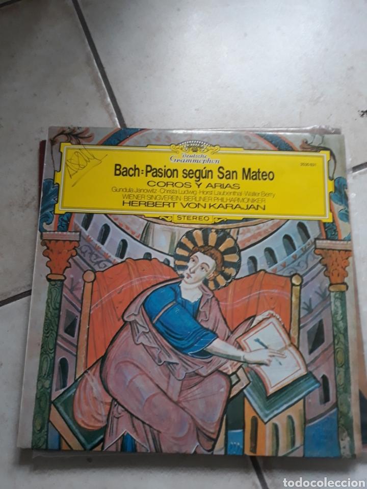 VINILO BACH. PASION SEGUN SAN MATEO (Música - Discos - LP Vinilo - Clásica, Ópera, Zarzuela y Marchas)
