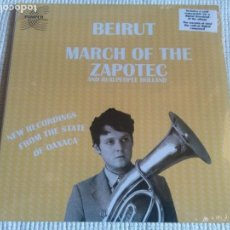 Discos de vinilo: BEIRUT / REALPEOPLE '' MARCH OF THE ZAPOTEC / HOLLAND '' 2 LP USA 2009 SEALED. Lote 149994742