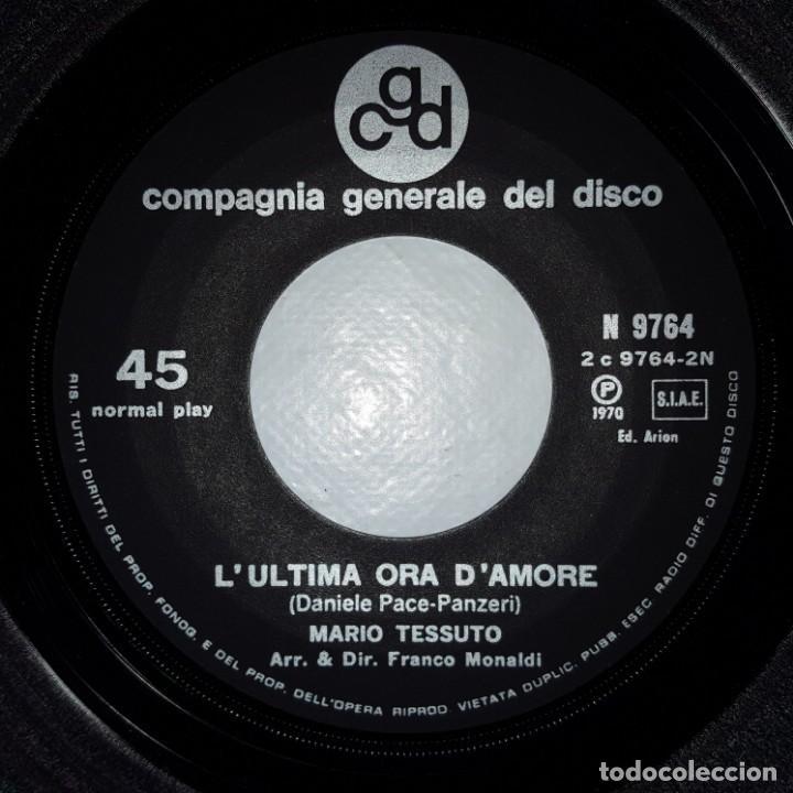 Discos de vinilo: SINGLE / MARIO TESSUTO / TIPITIPITIPITI / LULTIMA ORA DAMORE / CGD N 9764 / SANREMO 1970 - Foto 4 - 153956802