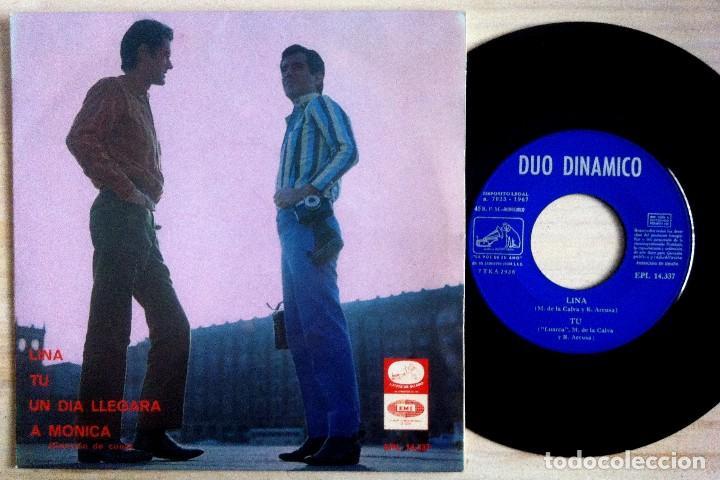 DÚO DINÁMICO - LINA / TÚ / UN DÍA LLEGARÁ / A MÓNICA - EP 1967 - LA VOZ DE SU AMO (Música - Discos de Vinilo - EPs - Grupos Españoles 50 y 60)