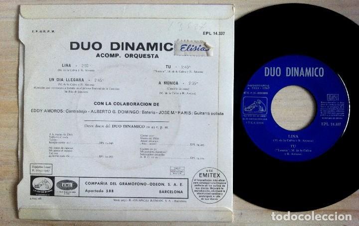 Discos de vinilo: Dúo Dinámico - Lina / Tú / Un Día Llegará / A Mónica - EP 1967 - La Voz De Su Amo - Foto 2 - 153961246