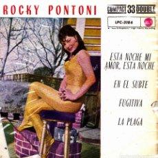 Discos de vinilo: ROCKY PONTONI - ESTA NOCHE MI AMOR, ESTA NOCHE + 3 EP 1961 RARO SPAIN. Lote 153985462
