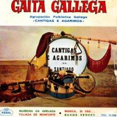 Discos de vinilo: AGRUPACION GALLEGA CANTIGAS E AGARIMOS - MUIÑEIRA DA GRELADA + 3 EP GAITA GALLEGA 1964 SPAIN. Lote 153987726