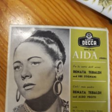 Discos de vinilo: SINGLE DE OPERA AIDA. Lote 153991904