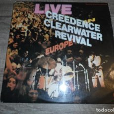 Discos de vinilo: CREEDENCE CLEARWATER REVIVAL – LIVE IN EUROPE (FRANCE 1973). Lote 154004134