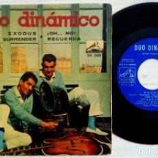 Discos de vinilo: DÚO DINÁMICO - EXODUS / ¡OH...NO! / SURRENDER / RECUERDA - EP 1961 - LA VOZ DE SU AMO. Lote 154019510