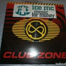 Discos de vinilo: ICE MC – MUSIC FOR MONEY DISCO DE VINILO 12''. Lote 154031958