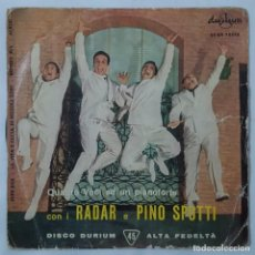 Discos de vinilo: EP / CUARTETO RADAR Y PINO SPOTTI / JUKE BOX +3 / DURIUM ECGE 75090. Lote 154047970