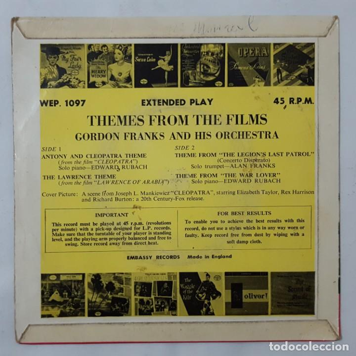 Discos de vinilo: EP / GORDON FRANKS AND HIS ORCHESTRA / THEMES FROM THE FILMS/CLEOPATRA +3 / EMBASSY WEP. 1097 / 1963 - Foto 2 - 154048482