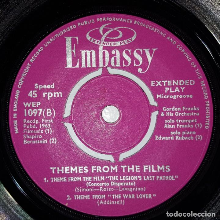 Discos de vinilo: EP / GORDON FRANKS AND HIS ORCHESTRA / THEMES FROM THE FILMS/CLEOPATRA +3 / EMBASSY WEP. 1097 / 1963 - Foto 4 - 154048482