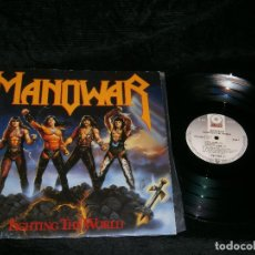Discos de vinilo: LP MANOWAR FIGHTING THE WORLD AÑO 1987 . Lote 154085446