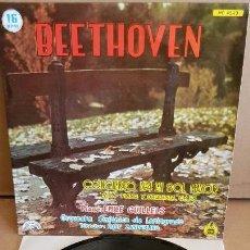 Discos de vinilo: BEETHOVEN / CONCIERTO Nº 4 EN SOL MAYOR / EMILE GUILLELS / EP - CHANT DU MONDE / 16 RPM / MBC. ***. Lote 154104938