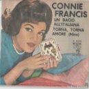 Discos de vinilo: CONIE FRANCIS UN BACIO ALL'ITALIANA /NINO EUROFESTIVAL GERMANY ITALIAN VERSION. Lote 154105330