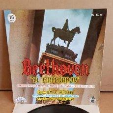 Discos de vinilo: BEETHOVEN /EL EMPERADOR / EMILE GUILLELS / EP - CHANT DU MONDE / 16 RPM / MBC. ***. Lote 154105378