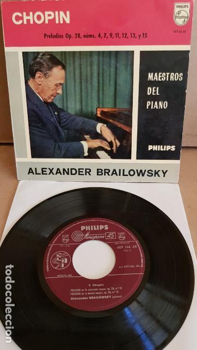 ALEXANDER BRAILOWSKY / CHOPIN / PRELUDIOS / EP - PHILIPS - 1960 / MBC. ***/*** (Música - Discos de Vinilo - EPs - Clásica, Ópera, Zarzuela y Marchas)