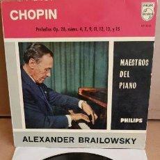 Discos de vinilo: ALEXANDER BRAILOWSKY / CHOPIN / PRELUDIOS / EP - PHILIPS - 1960 / MBC. ***/***. Lote 154105994