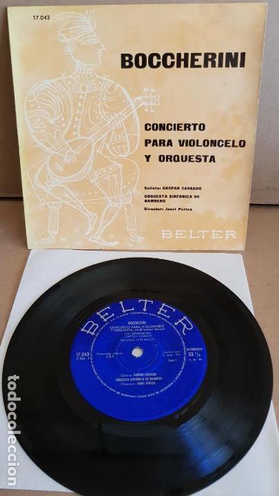 BOCCHERINI / CONCIERTO PARA VIOLONCELO / GASPAR CASSADO / EP-BELTER / 33½ RPM / MBC. ***/*** (Música - Discos de Vinilo - EPs - Clásica, Ópera, Zarzuela y Marchas)