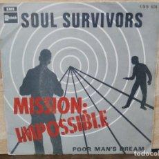 Discos de vinilo: IMPOSSIBLE MISSION - BSO - SOUL SURVIVORS - SINGLE DEL SELLO STATESIDE 1968. Lote 154111078