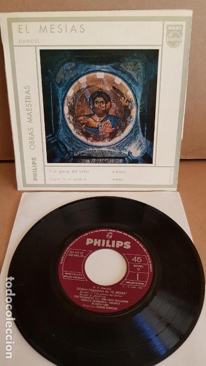 HANDEL / EL MESIAS / EP - PHILIPS-1963 / MBC. ***/*** (Música - Discos de Vinilo - EPs - Clásica, Ópera, Zarzuela y Marchas)