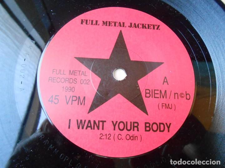 Discos de vinilo: FULL METAL JACKETZ, SG, I WANT YOUR BODY + 1, AÑO 1990 MADE IN SWEDEN - Foto 3 - 154161246