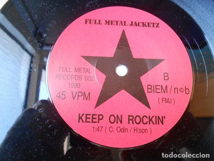 Discos de vinilo: FULL METAL JACKETZ, SG, I WANT YOUR BODY + 1, AÑO 1990 MADE IN SWEDEN - Foto 4 - 154161246