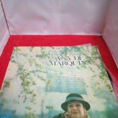 Discos de vinilo: MOMENTOS PARA RECORDAR EN LA VOZ DE ANA MARQUINA. Lote 154183632