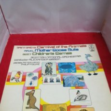 Discos de vinilo: CARNIVAL OF THE ANIMALS SCOTTISH NATIONAL ORCHESTRA ALEXANDER GIBSON. Lote 154186386