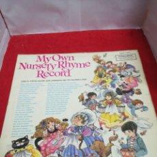 Discos de vinilo: MY OWN NURSERY RHYME RÉCORD. Lote 154186764