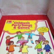 Discos de vinilo: CHILDREN PARTY SONG AND GAMES. Lote 154188898