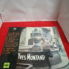 Disques de vinyle: YVES MONTAND. Lote 154189442
