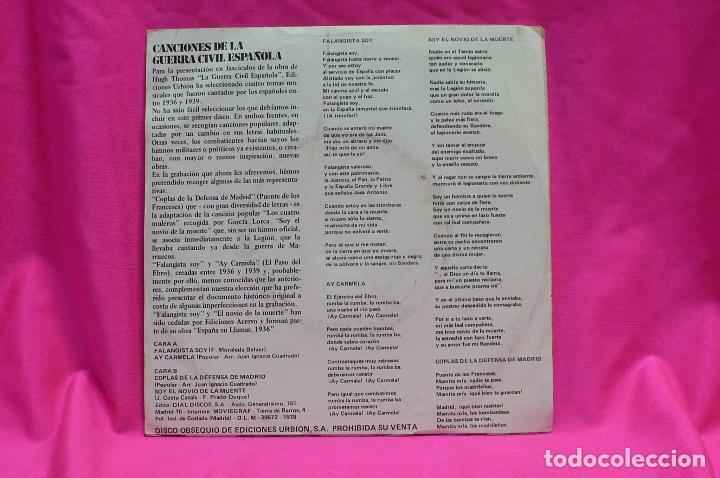 Discos de vinilo: canciones de la guerra civil española, 1978. - Foto 2 - 154189734