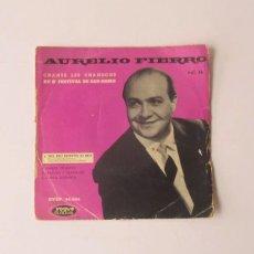 Discos de vinilo: AURELIO FIERRO - CANTA LAS CANCIONES DEL 8 FESTIVAL DE SAN REMO. Lote 154203494
