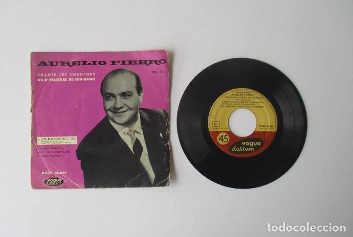 Discos de vinilo: AURELIO FIERRO - CANTA LAS CANCIONES DEL 8 FESTIVAL DE SAN REMO - Foto 2 - 154203494