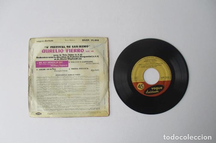 Discos de vinilo: AURELIO FIERRO - CANTA LAS CANCIONES DEL 8 FESTIVAL DE SAN REMO - Foto 3 - 154203494