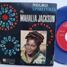 Discos de vinilo: MAHALIA JACKSON - EP SPAIN PS - NEGRO SPIRITUALS - TOP RANK 27.003 - AÑO 1961. Lote 154206726