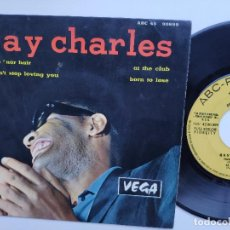 Discos de vinilo: RAY CHARLES - EP FRANCE PS - HIDE 'NOR HAIR - ABC 45 90899. Lote 154207418