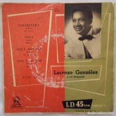 Discos de vinilo: EP / LORENZO GONZALEZ Y SU ORQUESTA / CABARETERA +3 / ODEON MSOE 102. Lote 154210338