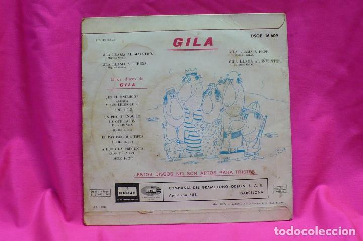 Discos de vinilo: llama gila -- al maestro, a teresa, a pepe, al inventor, emi odeon 1964. - Foto 2 - 154210830